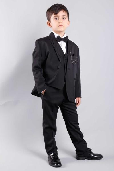Siyah Çocuk Takım Elbise Damatlık