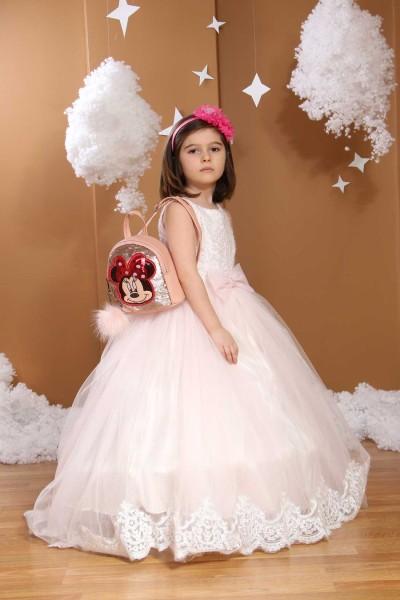 Çocuk Gelinlik Açık Pembe Renkli 339