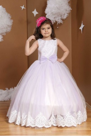 Çocuk Gelinlik Lila Rengi 339