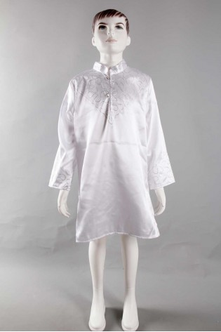 Uzun Beyaz Sünnet Gömleği