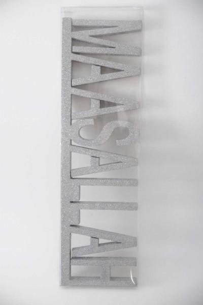 Gümüş Renkli Maşallah Yazılı Sünnet Straforu