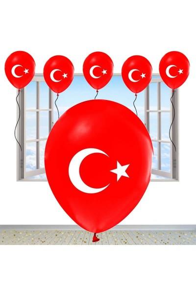 Türk Bayraklı Sünnet Balonu