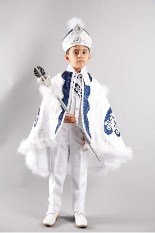 Şah Pelerin Beyaz Lacivert Sünnet Takımı