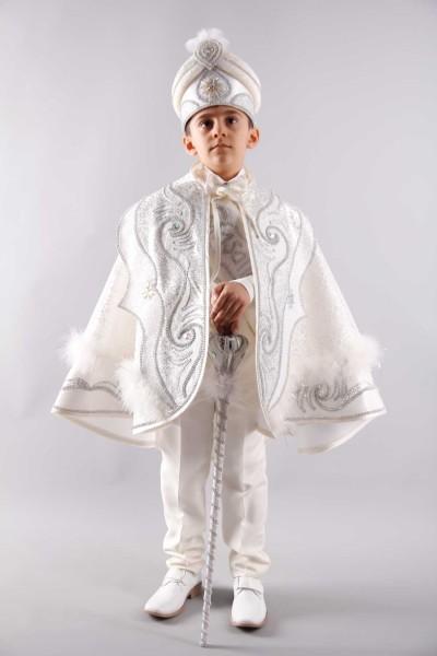 Şanlı Pelerin Beyaz Gümüş Sünnet Takım